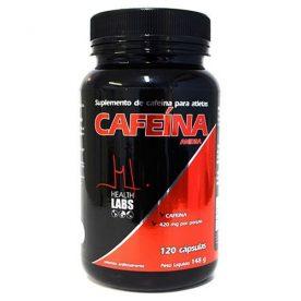 SUPLEMENTO DE CAFEÍNA HEALTH LABS 120 CÁPSULAS