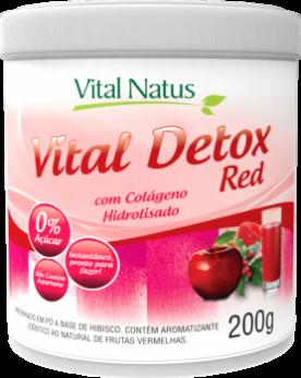 VITAL DETOX RED 200g COM COLÁGENO