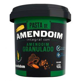 PASTA DE AMENDOIM INTEGRAL GRANULADO 450 g MANDUBIM